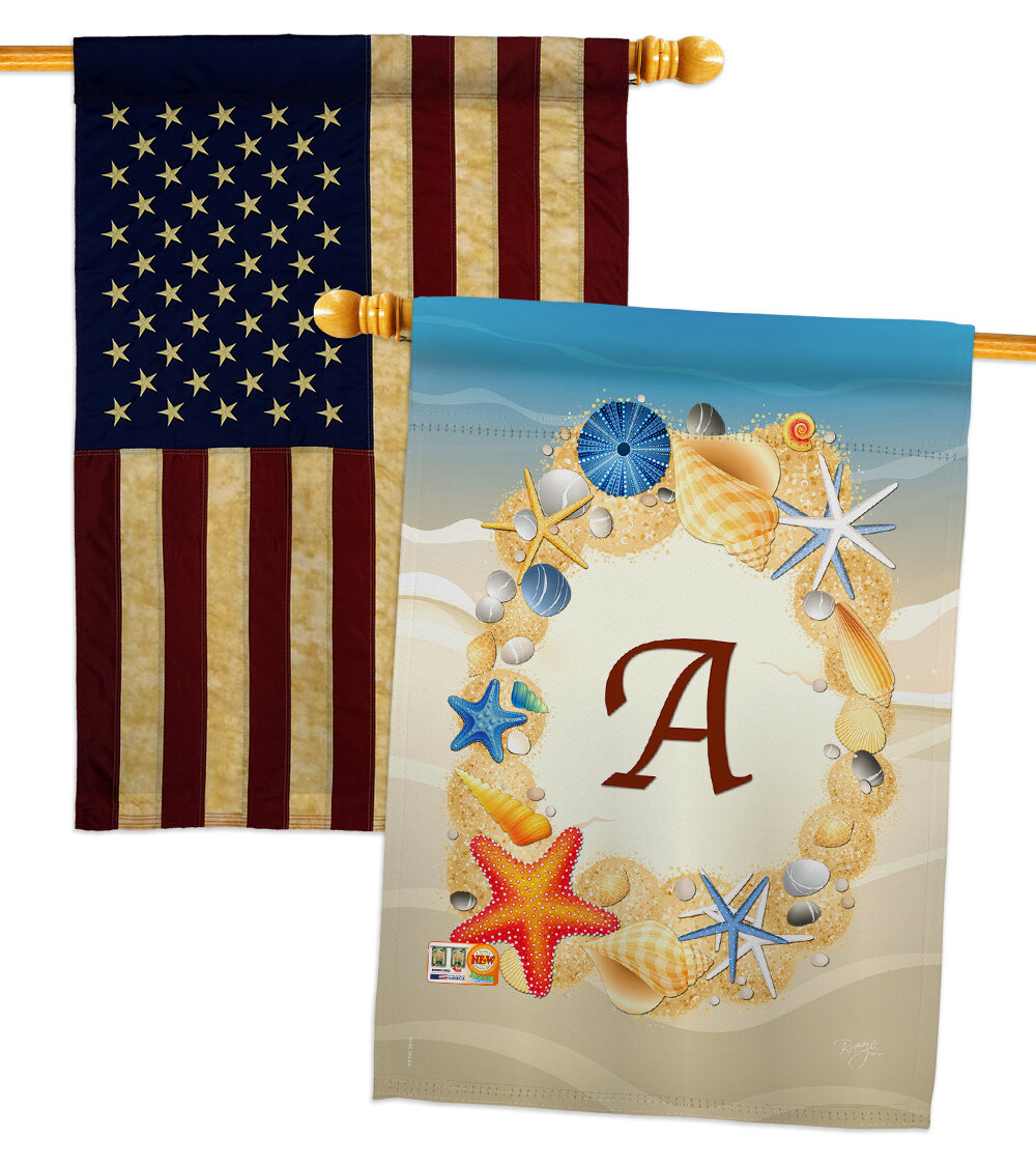 Breeze Decor Summer U Initial 2 Sided Polyester 40 X 28 In House Flag Wayfair