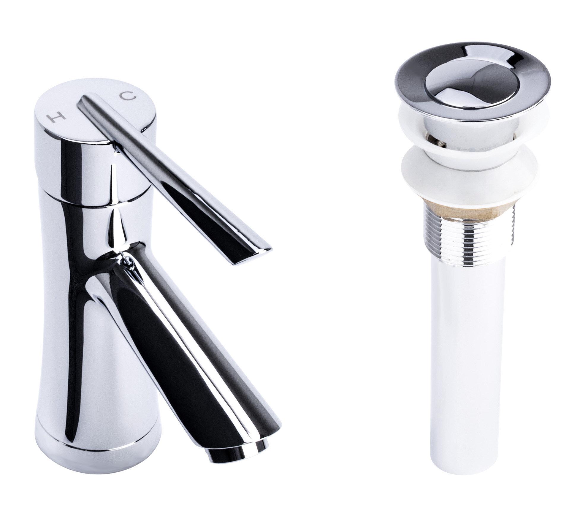 Fontainebyitalia Hour Glass Single Hole Bathroom Faucet With Drain Assembly Wayfair