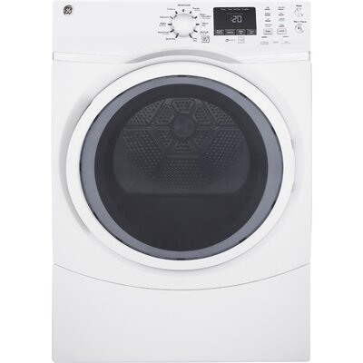 7.5 cu. ft. Electric Dryer with Steam GE Appliances Color: White