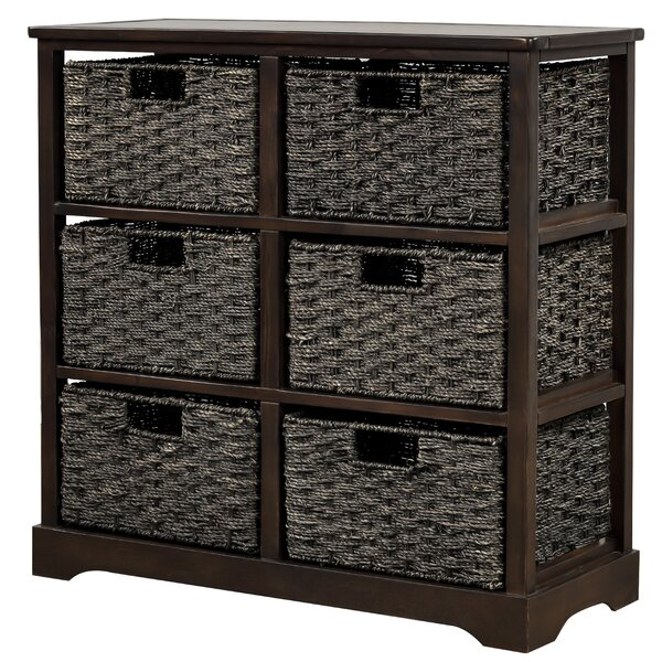 longshore tides storage chest storage cabinet with 6