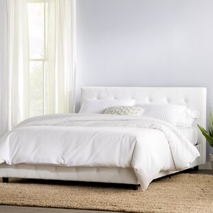 quality design 20917 754a6 Off White Upholstered Bed | Wayfair