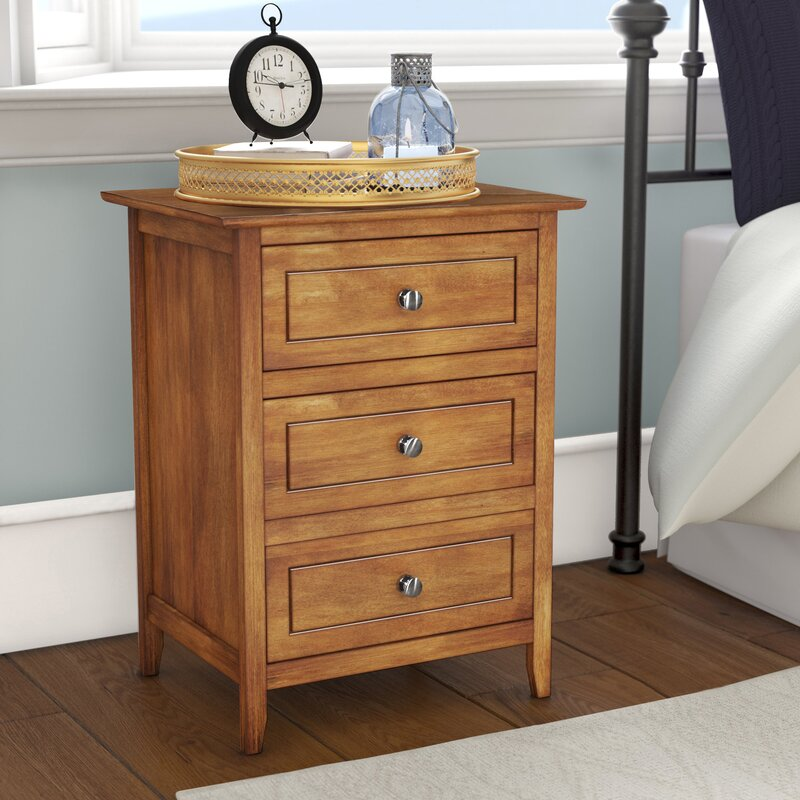 Ovellette 3 Drawer Nightstand