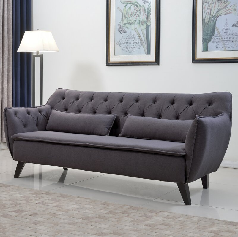 Langley Street Slater Mill MidCentury Modern Sofa Reviews Wayfair