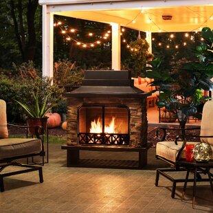 Outdoor Fireplace Wood Burning Wayfair