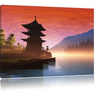 Chinese House Wall Art On Canvas
