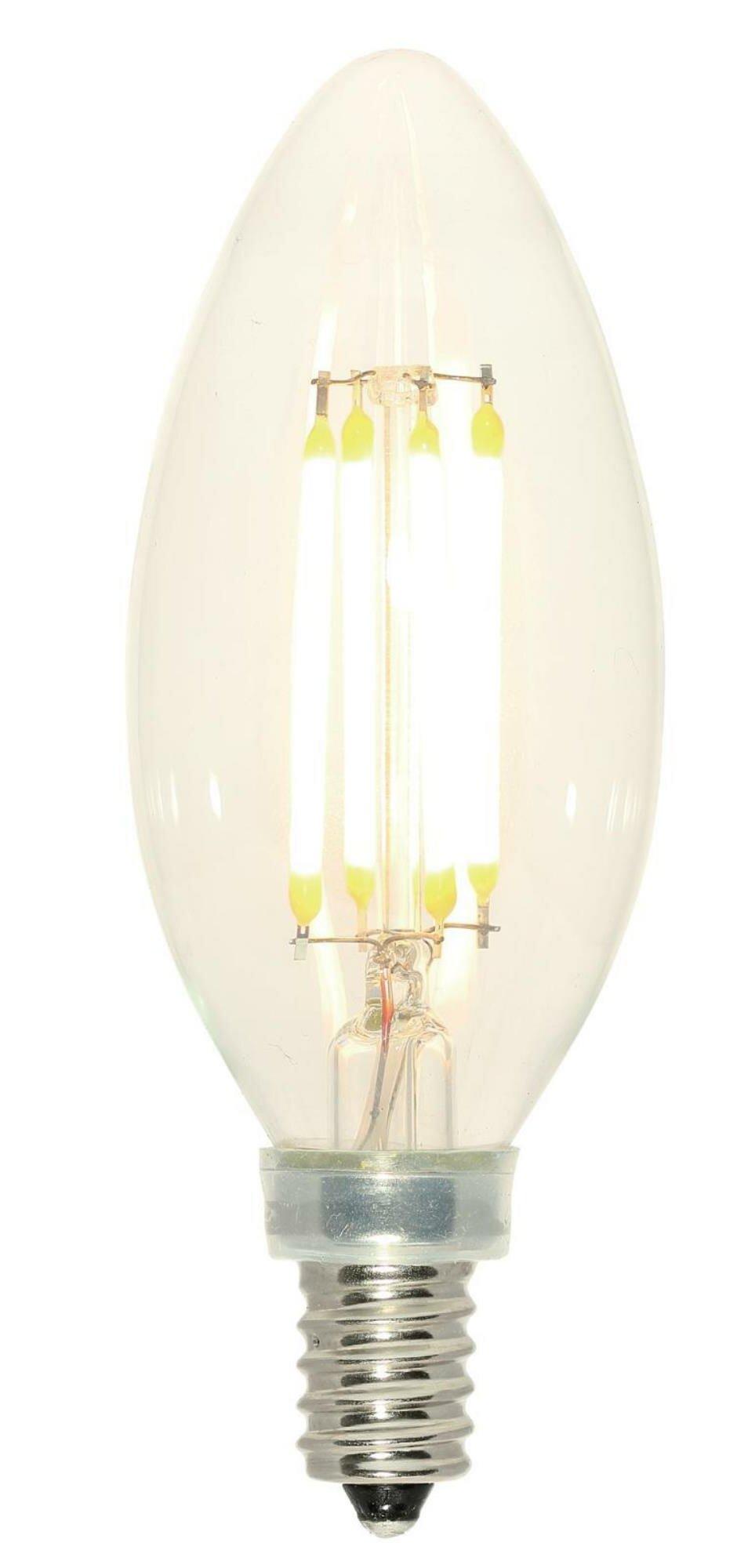 Westinghouse Lighting 60 Watt Equivalent E12 Dimmable Led Edison Candle Light Bulb Reviews Wayfair