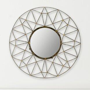 Wrought Studio Flanigan Round Natural Wall Mirror