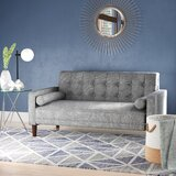 Isaac 57 Square Arm Loveseat by Langley Street™