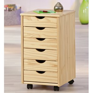 container 6drawer mobile vertical filing cabinet