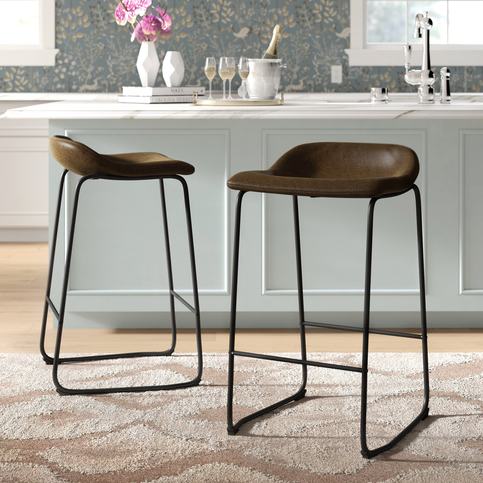 Leather Bar Stools Counter Stools You Ll Love In 2020 Wayfair