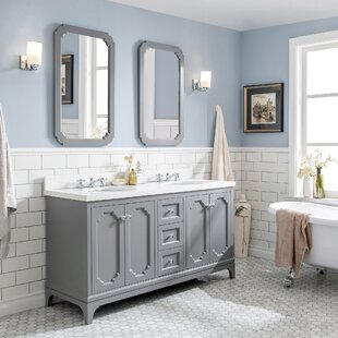 Kylan 60 Double Bathroom Vanity Set with Mirror By Alcott Hill