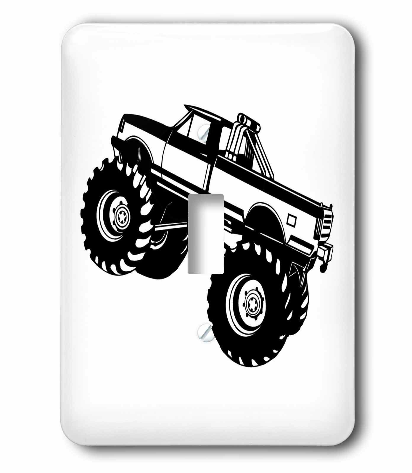 3drose Monster Truck 1 Gang Toggle Light Switch Wall Plate Wayfair