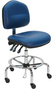 Cleanroom Lab Upholstered Drafting Chair