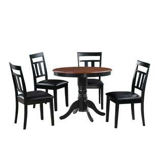 Dahle 5 Piece Solid Wood Dining Set August Grove