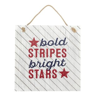 Bold Stripes Bright Stars Wall D?cor by Hallmark Home & Gifts