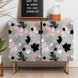Marta Barragan Camarasa Abstract Leaves Autumn Sideboard East Urban Home