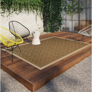 Samuel Diamond Maze Tan/Brown Indoor/Outdoor Area Rug