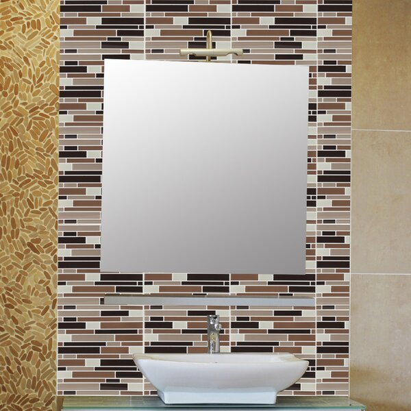 Achim Importing Co 9 125 X Vinyl L Stick Mosaic Tile In Beige And Brown Reviews Wayfair