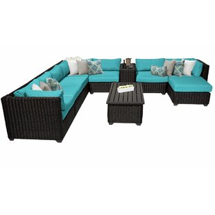 Fairfield 10 Piece Sectional Seating Group With Cushions by Sol 72 Outdoor Best #1