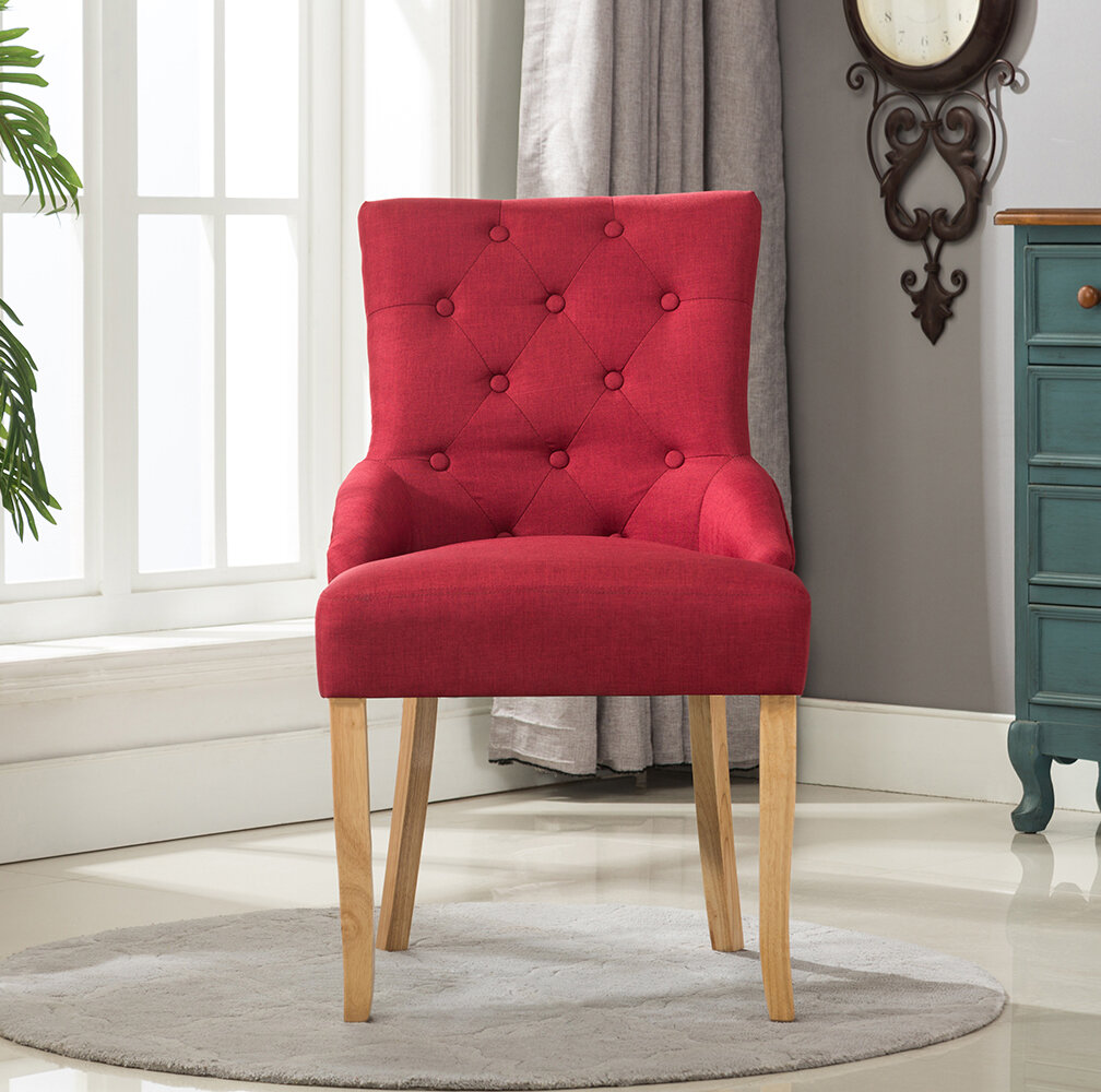 red upholstered dining chairs. Langley Street Bradman Upholstered Dining Chair \u0026 Reviews | Wayfair.co.uk Red Chairs