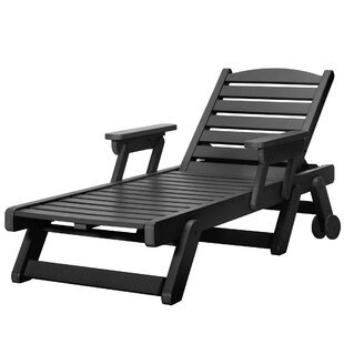 Herrman Wheeled Chaise Lounge By Alcott Hill