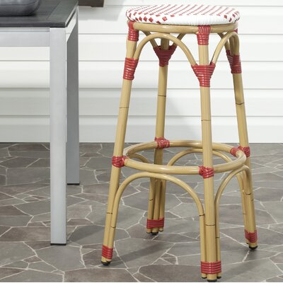 Super Safavieh Kipnuk 30 Inch Patio Bar Stool Gmtry Best Dining Table And Chair Ideas Images Gmtryco