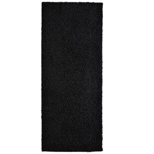 Great Price Modern Shag Black Area Rug ByRug Studio