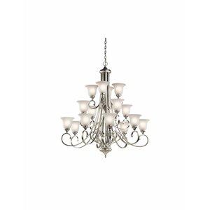 Monroe 16-Light Shaded Chandelier