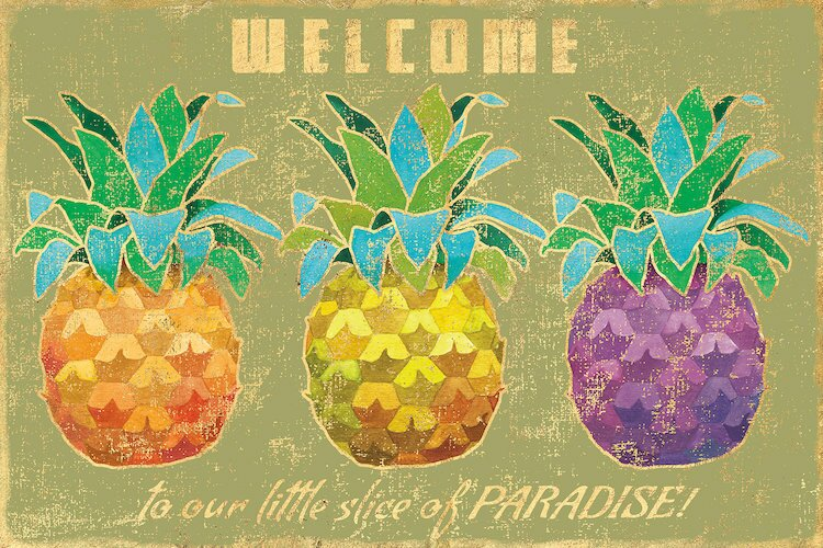 East Urban Home Island Time Pineapples Ii Graphic Art On Wrapped Canvas Reviews Wayfair