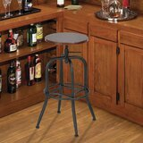 Orsi Adjustable Height Swivel Bar Stool by Williston Forge
