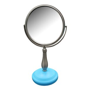 Look for Alderman Freestanding Bath Magnifying Makeup Mirror ByWinston Porter