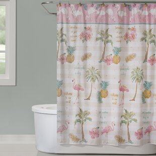 Flamingo Garden Single Shower Curtain