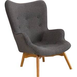 Canyon Vista Mid-Century Wingback Chair