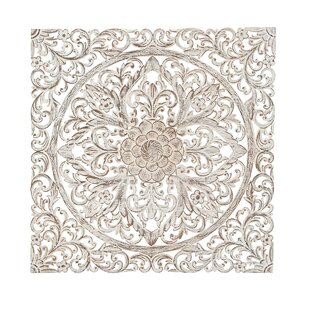 Traditional Carved Fl Medallion Wall Decor