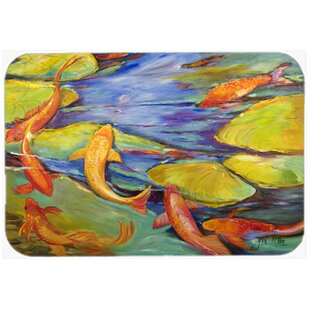 Koi Glass Cutting Board By Caroline's Treasures