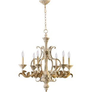 Country french chandelier wayfair guyette 6 light chandelier aloadofball Images