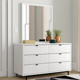 Arnett 6 Drawer Double Dresser with Mirror by Trule