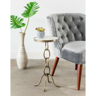 Compare prices Lundin Stacked Chain End Table By Ivy Bronx