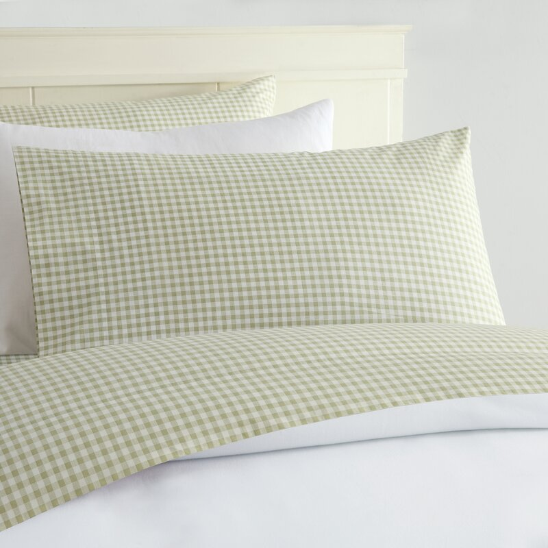 alberta gingham 250 thread count sheet set