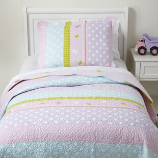 Sandown Pretty Polka Quilted Bedding Set