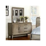 Grigor 3 Drawer Combo Dresser with Mirror by Wrought Studio™