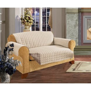 Reversible T-Cushion Sofa Slipcover by Winston Porter