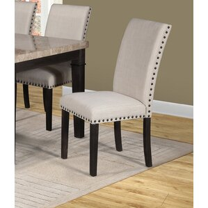 Farrier Upholstered Dining Chair (Set of 2) by Alcott Hill