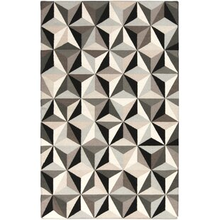 Affordable Escher Hand Woven Black Area Rug By DwellStudio