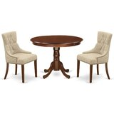 Janley 3 Piece Solid Wood Breakfast Nook Dining Set by Winston Porter