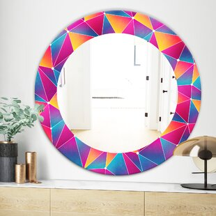 Bright Triangle with Grunge Effect Modern Wall Mirror