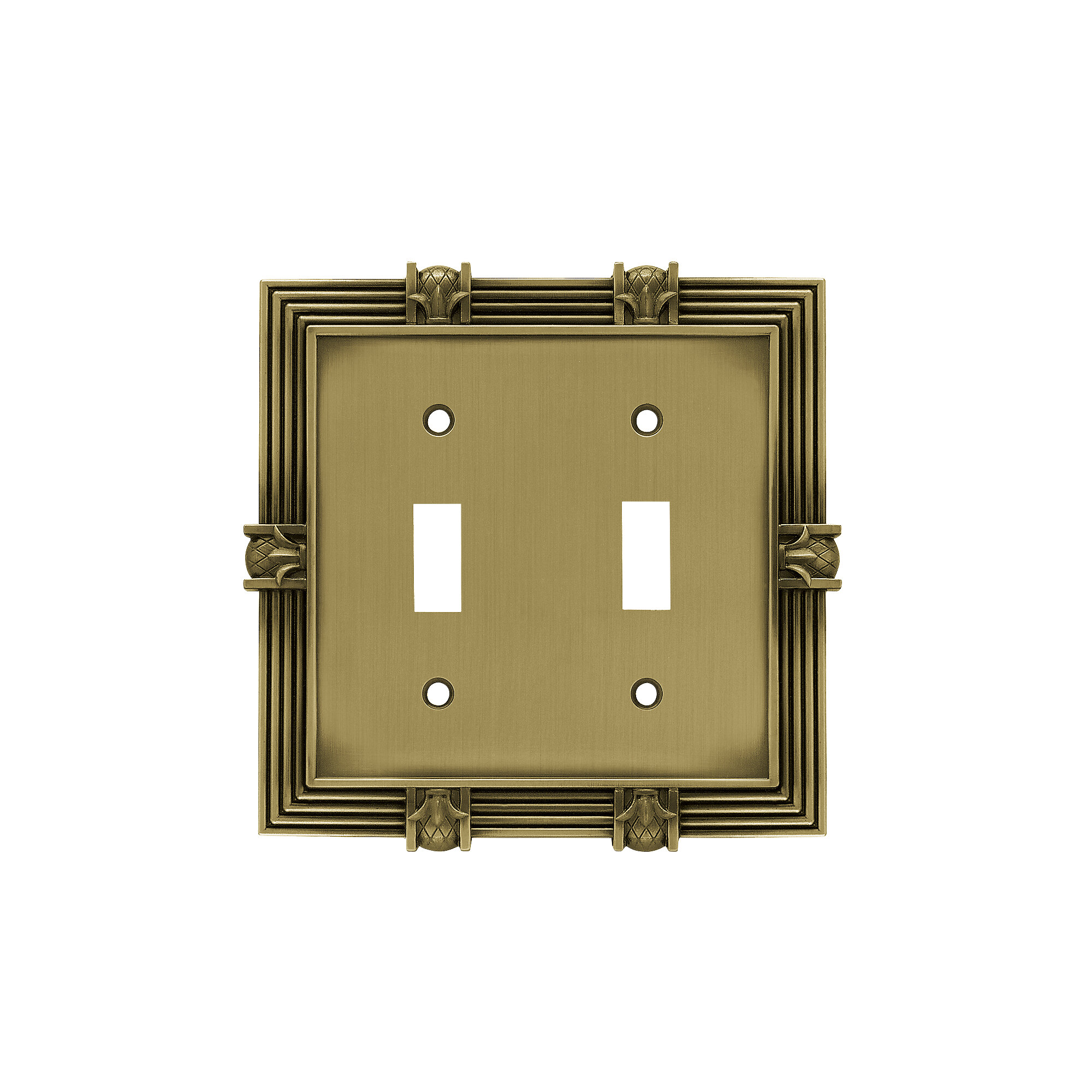 Franklin Brass Pineapple 2 Gang Toggle Light Switch Wall Plate Reviews Wayfair