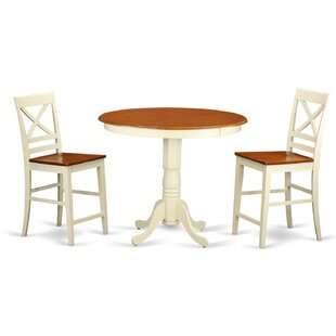 Jackson 3 Piece Counter Height Pub Table Set East West Furniture