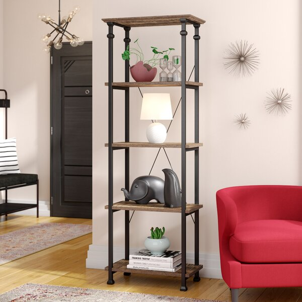 "Williston Forge Cabral 74.5"" H x 26"" W Metal Etagere Bookcase"