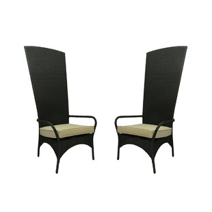 Resin Wicker Outdoor Patio King Chairs with Cushion (Set of 2)
